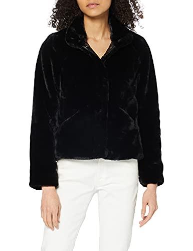 Only Onlvida Faux Fur Jacket Otw Giacca, Nero (Black), 40 (Taglia Produttore: X-Small) Donna