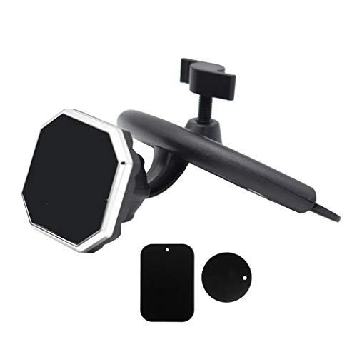 holilest Marco de navegación, Auto Car CD Slot Soporte magnético para teléfono Celular Soporte para iPhone Samsung Xiaomi Huawei Teléfono móvil - Plata