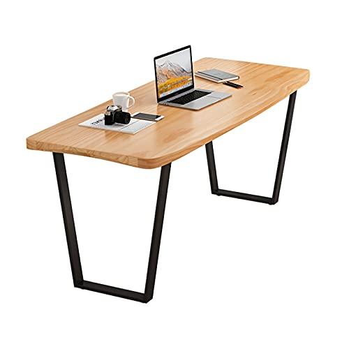 conjunto de escritorio y silla ORDENADOR PERSONAL Escritorio para computadora portátil con bordes curvas Escritura de trabajo de escritura de hogar simple 47 '/ 55' Mesa de estudio de trabajo de pino