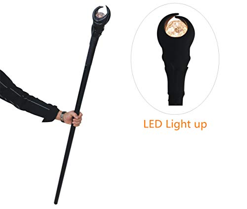 Bulex 51inch Deluxe LED Light Maleficent Glowing Staff Wizard Scepter Magic Wand Halloween Prop
