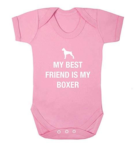 Flox Creative Baby Vest Best Friend Boxer - Rose - XS
