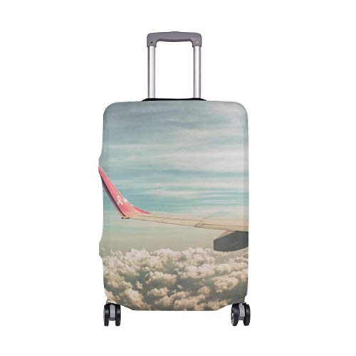 Funda para Equipaje de Viaje IUBBKI, Protector de Maleta con alas de Nubes y Cielo de avión, se Adapta a Fundas de Equipaje Lavables en L