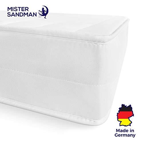 Mister Sandman ergonomische 7 Zonen Matratze, H2 H3 Härtegrad 2in1, Wendbar, Kaltschaum Rollmatratze Öko Tex (140 x 200 cm, H2H3)