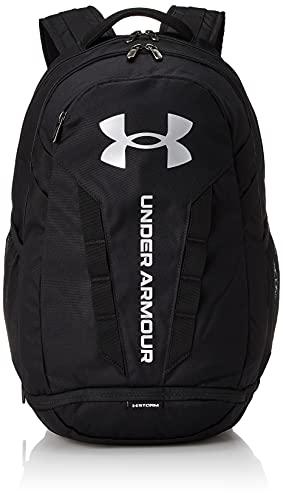 Under Armour Hustle 5.0, mochila para portátil unisex, Negro (Black / Black / Silver), Taglia unica