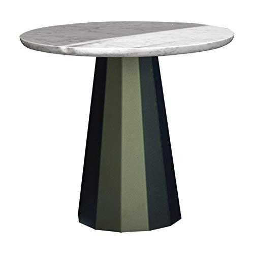 TINGHAO Mesas De Salón Mesas de café Moderna Simplicidad Fin de mesas para Sala de Estar Dormitorio y balcón Mesa de mármol Natural Sofá Dormitorio Mesa de café (tamaño : Large)