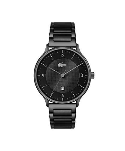 Lacoste Herren Analog Quarz Uhr mit Edelstahl Armband 2011119