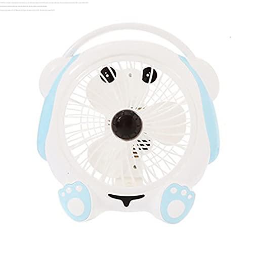 LXQGR Dibujos Animados Pequeño Ventilador eléctrico Dormitorio Cama Enchufe Escritorio Mini Estudiante Lindo Fan al Lado de la Cama Oficina de Escritorio (Color : 6)