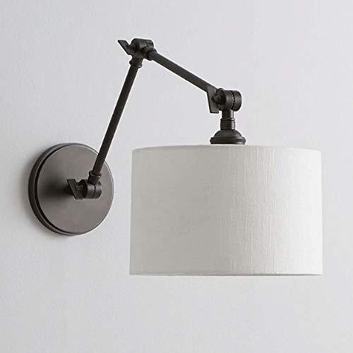 Lámpara de Pared Con Iluminación Decorativa Lámpara de pared retro industrial opaco pantalla de la tela de pulverización de pintura simple Scrub lámpara de pared de diseño de la vivienda pared lámpara