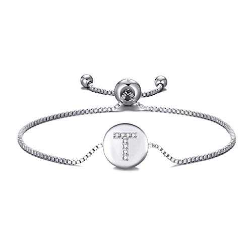 Philip Jones Initial Friendship Bracelet Letter T Created with Austrian Crystals