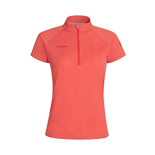 Mammut Aegility Half Zip T-Shirt Femme Poinciana Mélange FR: S (Taille Fabricant: S)