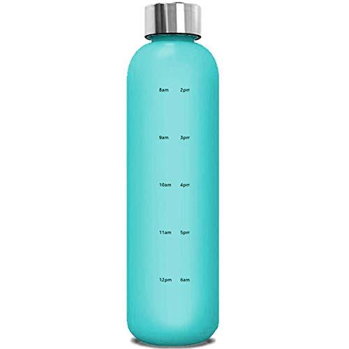 1 unid reutilizable taza de viaje deportes frasco fitness camping culturismo marcas tiempo azul plástico 1000ml