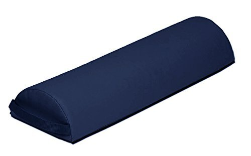 Skin-Touch Luxurious PU Upholstery Premium Quality Massage Table Bolster Support Cushions - Half Round Semi-Circle + Full Round Knee Roll + Neck P-Shaped + Neck Semi Circle + Wedge + Carry handle + Selection of Colours (Half Round, Navy)