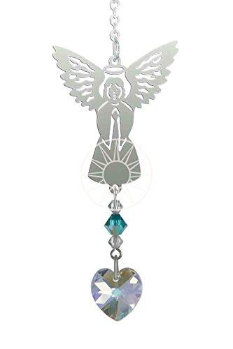 Motif ange cristal Swarovski Pierre de naissance pour décembre Zircon Bleu Motif