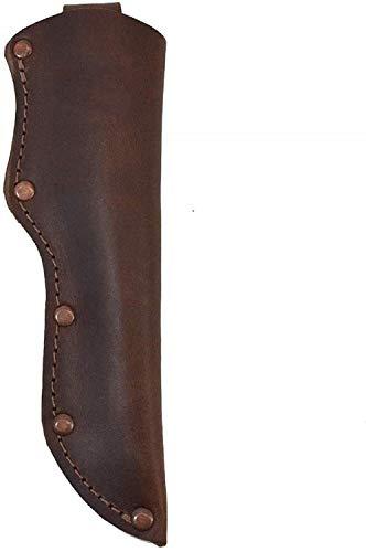 Leather Mora Knife Sheath w/Belt Loop Handmade KnivesBlade Hunting Knife Sheath Case Pouch (Brown)