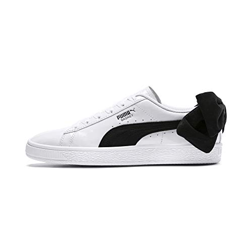 PUMA Basket Suede Bow Damen Sneaker Puma White-Puma Black UK 5.5_Adults_FR 38.5