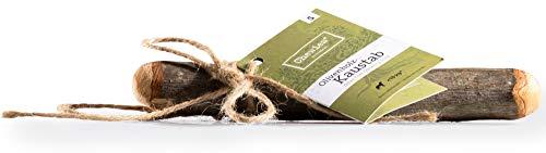 Chewies Kau-Knochen Hunde-Spielzeug aus Olivenholz, 100% natürliches Hundezubehör, Kauspielzeug Hund bis 10kg Größe S