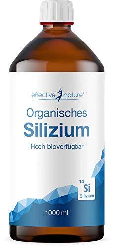 Effective nature | Organisches Silizium | Besonders hohe Bioverfügbarkeit | Mit Monomethylsilantriol | Zur täglichen Einnahme | Hergestellt in der Schweiz | 1000 ml