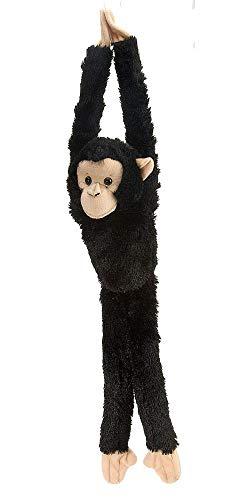Wild Republic 15260 - Hanging Monkey Schimpanse Plüsch-Affe, 51 cm