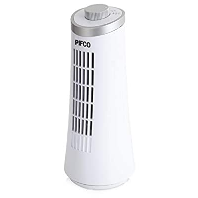 Pifco P50001 Tower Fan, 2 Speed Settings, Automatic Oscillation, 15 W Motor, White