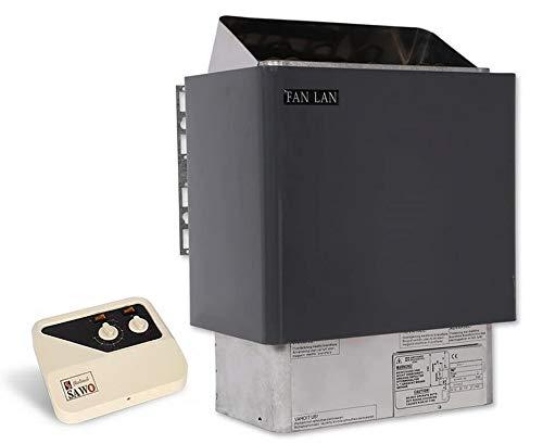 電気サウナヒーター2020、サウナ室スパ用ヒーターストーブサウナスパ外部コントローラ:デトックスと減量をサポート,9.0KW