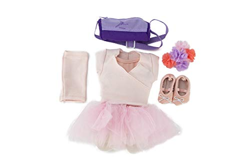 """Playtime by Eimmie 10pc Ballerina Outfit by Capezio - Doll Accessories for 18"""" Dolls - Ballerina Doll Clothing & Bag Accessories"""
