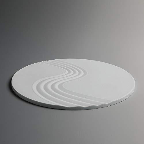 ICNBUYS Lot de 2 dessous de plat en silicone antidérapant pour décoration de jardin zen - Passe au lave-vaisselle, au congélateur, au micro-ondes et au four - 19,1 cm - Blanc
