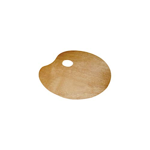 Lidercolor Paleta Madera Ovalada Tamaño 20x30 cm Grosor 0,3 cm Para Zurdos