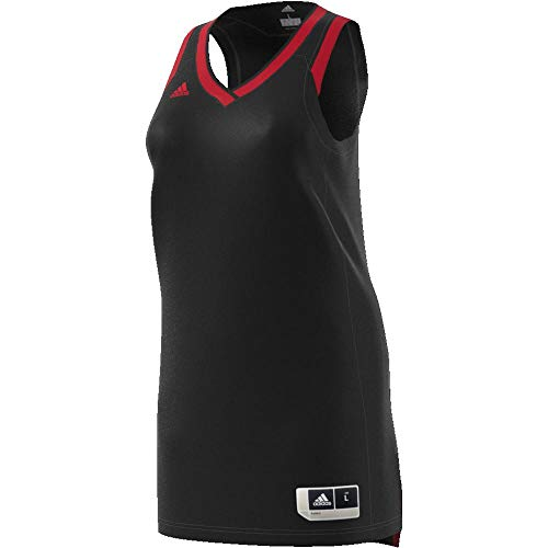 adidas W Crazy Expl Jr Camiseta de Baloncesto, Mujer, Negro (Negro / Rojsld), S