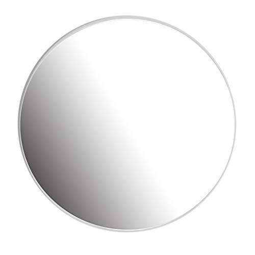 YF-Mirror 40 - Espejo Circular de 80 cm - Espejo Redondo para baño, baños, Salas de Estar y más, Blanco
