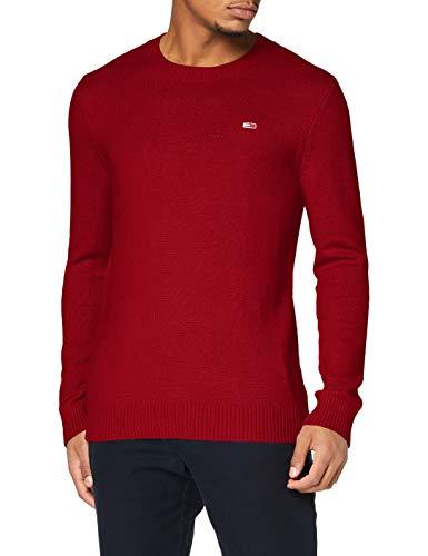 Tommy Hilfiger TJM Light Blend Crew Sweater Suter, Rojo Vino, L para...