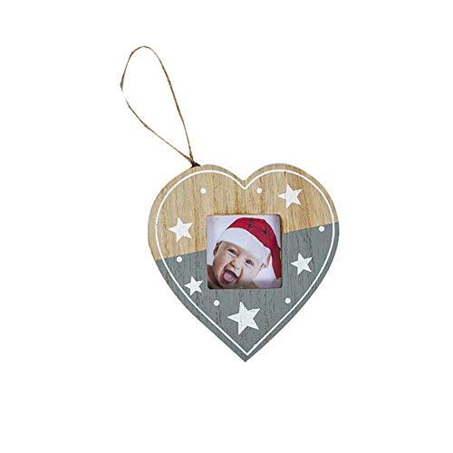 Packen Von 6-Weihnachtsbaum-Foto-Flitter Ornamente Dekorationen Jeder 10,0 * 10,5 Cm Fotos Hält - Verwenden Die Vorlage Enthalten Ihr Eigenes Foto Zu Trimmen Um.Großer Wert Multipack! (Farbe : F)