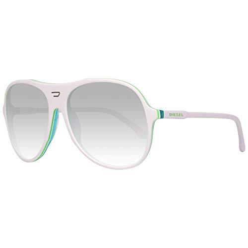 Diesel Sonnenbrille DL0015 6024W Oval Sonnenbrille 60, Weiß