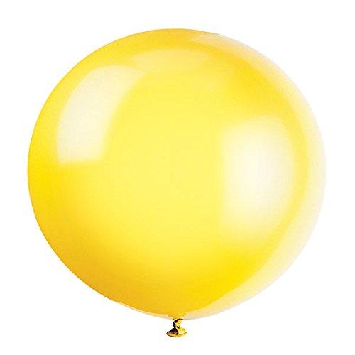 Gogogo 1 x 36 Pouce Latex énorme Ballon pour extérieur Mariage Anniversaire Fête Festival Décor (Jaune)