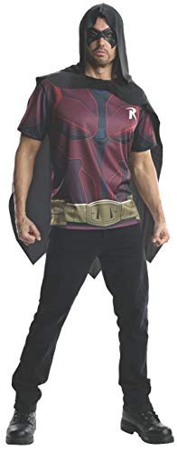 Rubie's Men's Batman Arkham City Adult Robin Top, Multicolor, Small