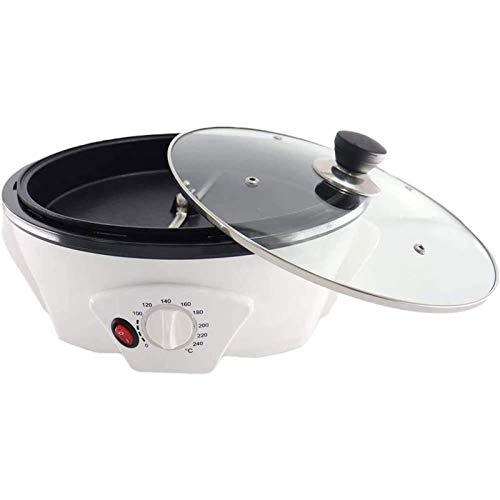 LKNJLL 750g Máquina de Tostador de café eléctrico, café Tostador de café eléctrico Tostador de Grano de café, Acero Inoxidable Tipo de Tambor de Tambor de rotación ROTACIÓN (110V / 220V)