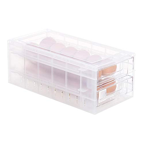 Multifunktionsbox für Eier, Kühlschrank Eierdose, Ei Halter Box, 24 Zellen Eier Aufbewahrungsbox