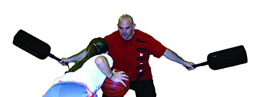 HoopsKing Defender Extender Basketball Training Pads - Volleyball Blocking Drills - Football Quarterback Pass Rush Distractor - Makes Players Learn to Handle Taller, Faster, More Athletic Opponents