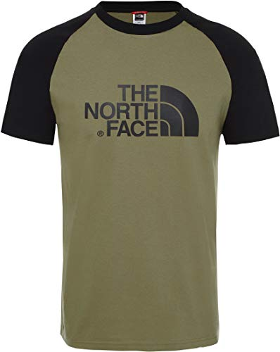 THE NORTH FACE Herren Tee M SS Raglan Easy Tee Burnt Olive GRN, Green, XL, NF0A37FV7D6