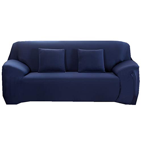 Elastischer Weich Sofabezug Schonbezug All-Inclusive Rutschfester Stretch Spandex Sesselbezug, Klassische Einfarbige Antirutsch Sofahusse Für 1 2 3 4 Sitzer Navy blau 1 Sitzer 90-140cm