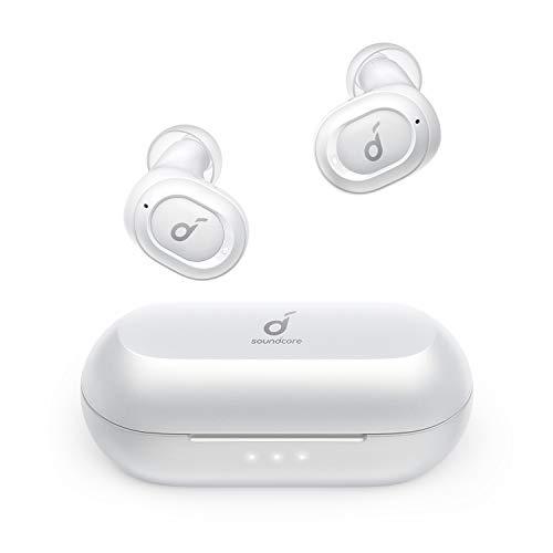 Soundcore Anker Liberty Neo Bluetooth Kopfhörer, Kabellose Kopfhörer mit Premium Klangprofil mit intensivem Bass, IPX7 Wasserschutzklasse, Bequemer Halt, Bluetooth 5.0(Weiß)