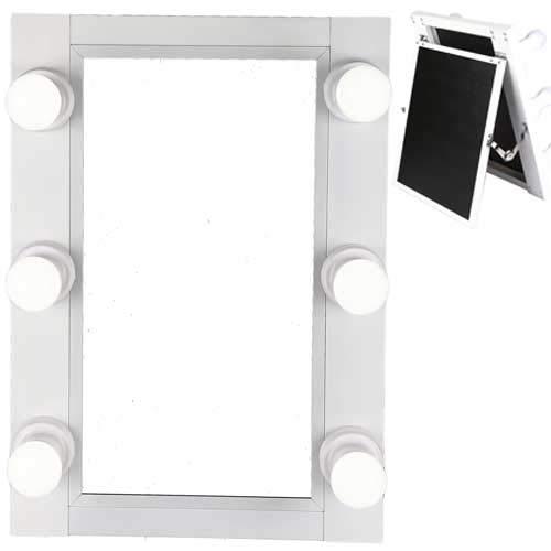 Miroir lumineux LED blanc inclinaison réglable