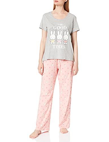 Women' Secret Short Sleeves Long Pant Pyjama Pijama, Gris Medio, M para Mujer