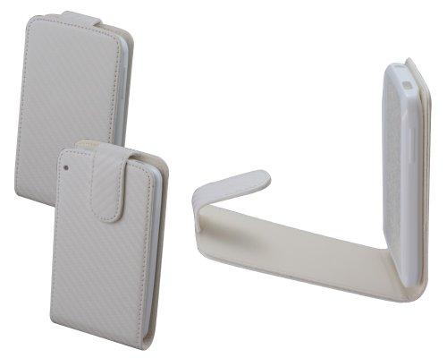 Colorfone - Carbo, Custodia Chic in Neoprene per Alcatel OT-991, Colore: Bianco