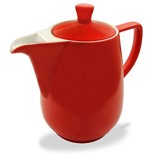 Friesland Kaffeekanne 1,4l Rot Porzellan