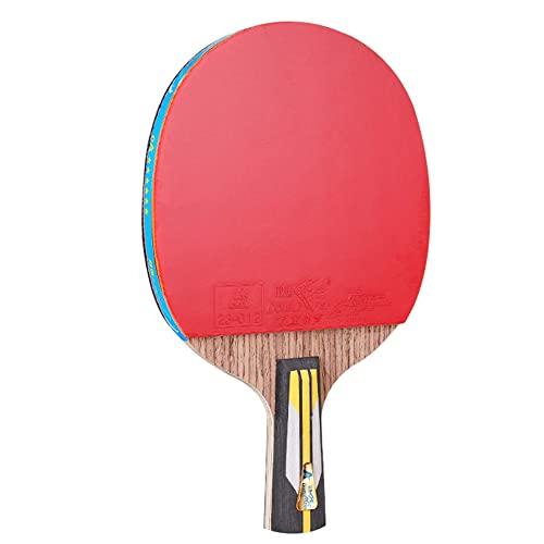 LINGOSHUN Juego de Raquetas de Ping Pong,Mango cómodo,Raquetas de Tenis de Mesa de Entrenamiento Amateur Intermedio Profesional,Aprobado por la ITTF / 6 Stars/Short handle