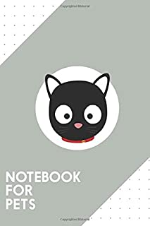 """Notebook for Pets: Dotted Journal with Cute black cat with red collar Design - Cool Gift for a friend or family who loves kitten presents! 