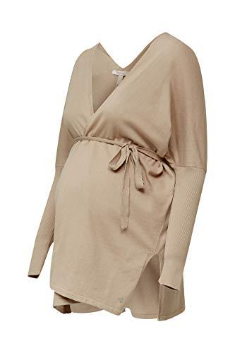 ESPRIT Maternity Damen Cardigan ls Umstandsstrickjacke, Beige (Beige 270), 38 (Herstellergröße: M)