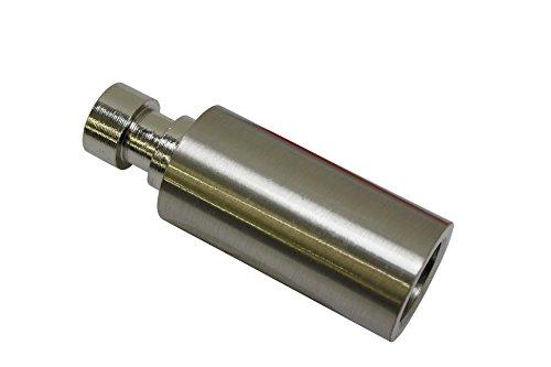 GARDINIA Trägerverlängerung, Für Träger offen 1-Lauf, Länge 4 cm, Durchmesser 20 mm, Edelstahl-Optik
