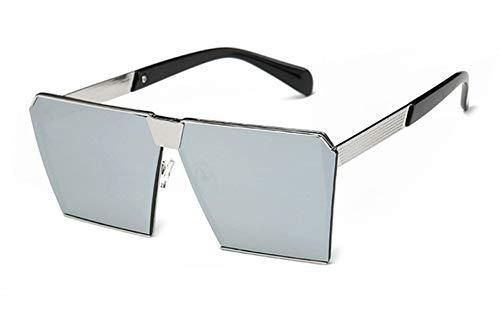 SHUHAO Marca De Moda De Diseño Cuadrado Planos Lente Gafas De Sol Espejo Gafas De Sol De Las Mujeres De Los Hombres De Hip Hop De Gran Tamaño Dama Gafas Hombre FDA UV400,I