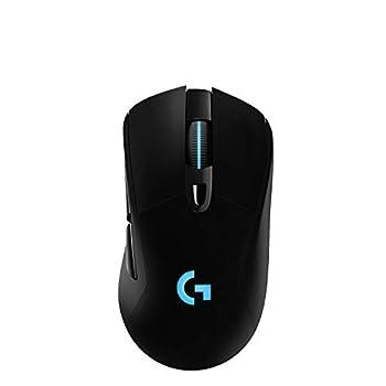 Logitech G703 Lightspeed Wireless Gaming Mouse W/Hero 25K Sensor PowerPlay Compatible Lightsync RGB Lightweight 95G+10G Optional 100-25 600 DPI Rubber Side Grips - Black